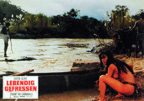 EATEN ALIVE! - German lobby card v06