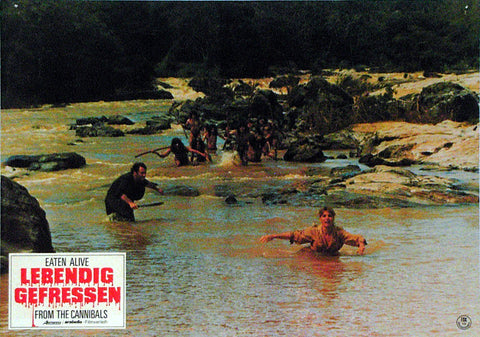 EATEN ALIVE! - German lobby card v07