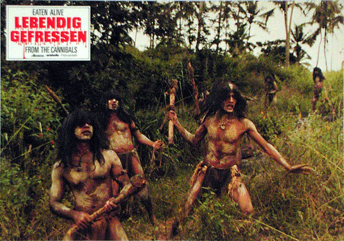 EATEN ALIVE! - German lobby card v08