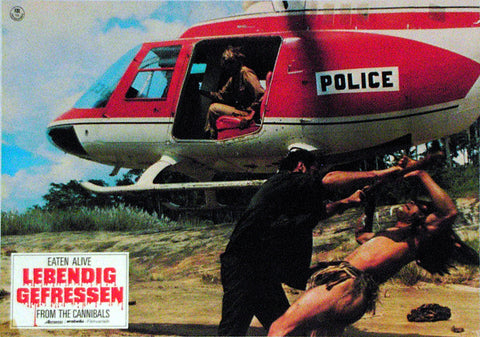 EATEN ALIVE! - German lobby card v13