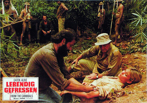 EATEN ALIVE! - German lobby card v17
