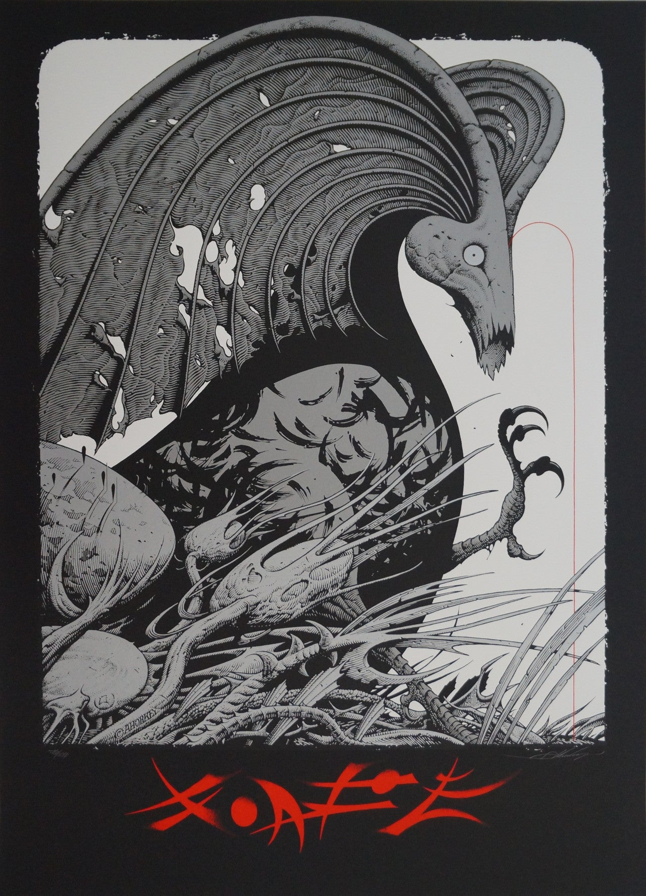 FANTASTIC PLANET (variant) by Aaron Horkey