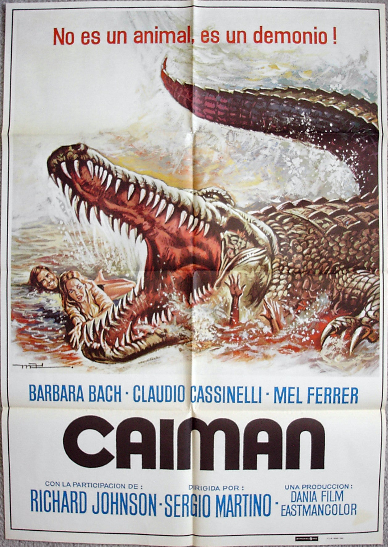 GREAT ALLIGATOR, THE - Spanish poster