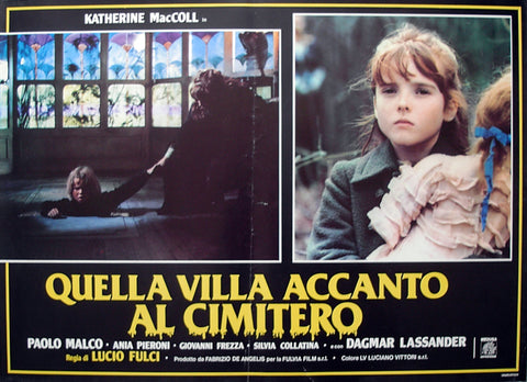 HOUSE BY THE CEMETERY - Italian photobusta poster