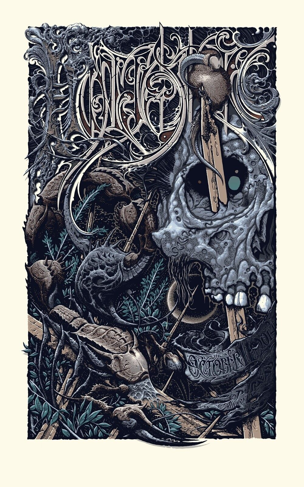 HYPERSTOIC (pus version) by Aaron Horkey and Pushead
