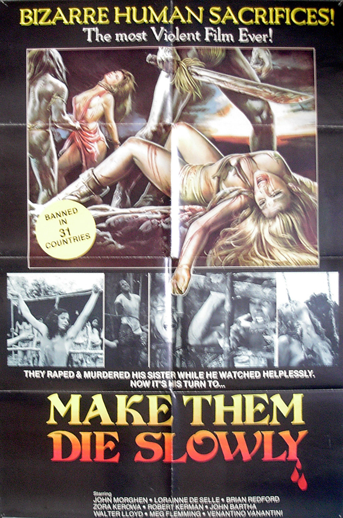 MAKE THEM DIE SLOWLY - US one-sheet poster