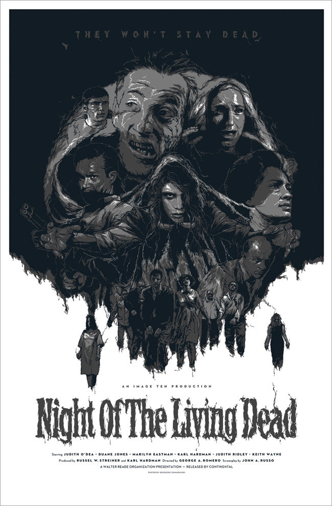 "NIGHT OF THE LIVING DEAD (variant) by Grzegorz ""Gabz"" Domaradzki"