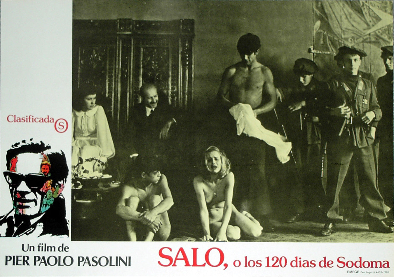 SALO: 120 DAYS OF SODOM - Spanish lobby card v10