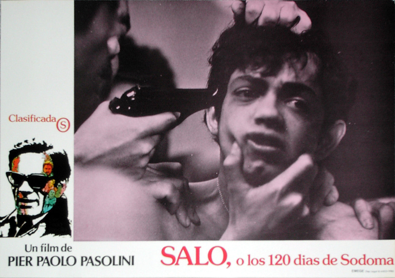 SALO: 120 DAYS OF SODOM - Spanish lobby card v12