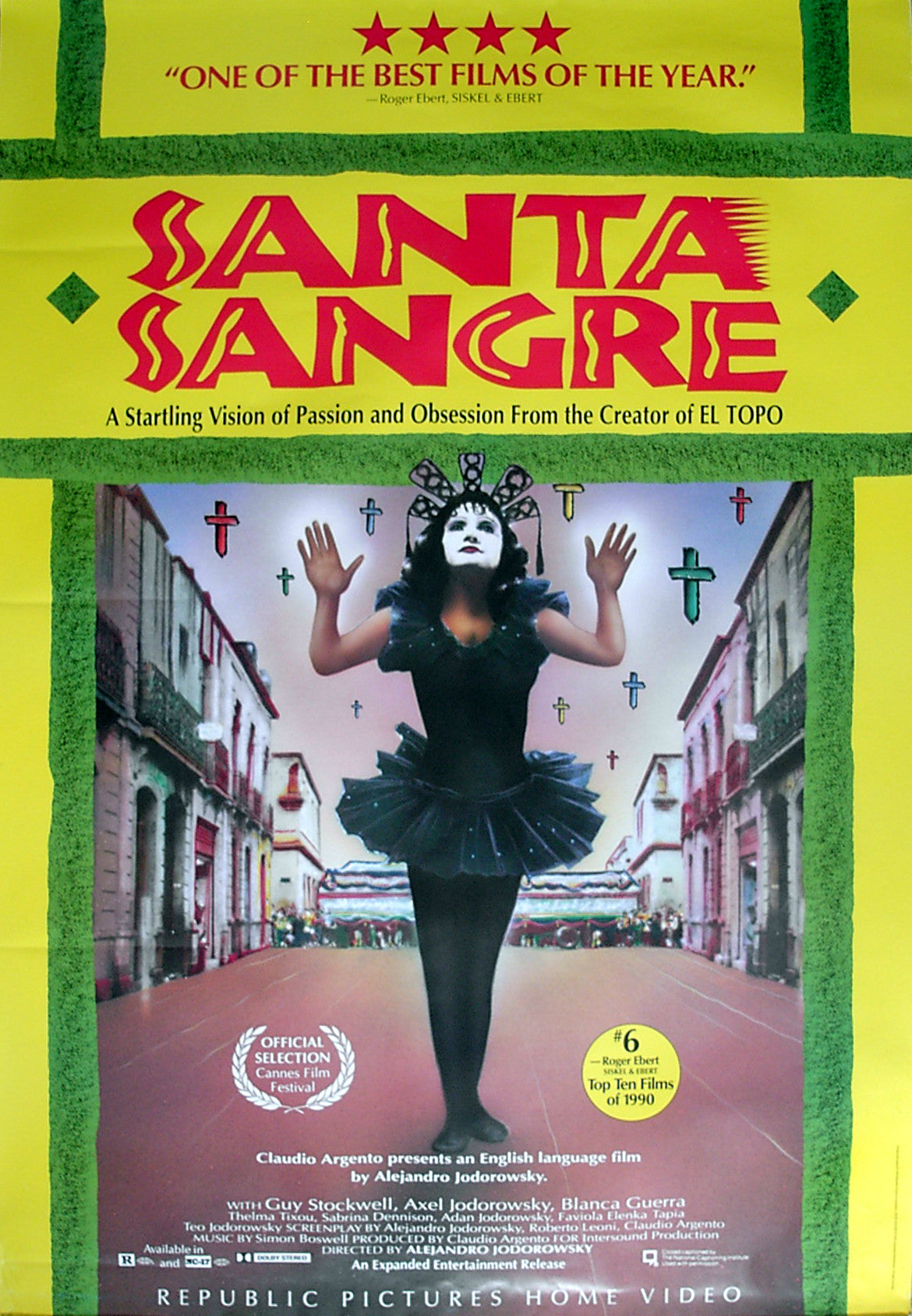 santa sangre us video poster