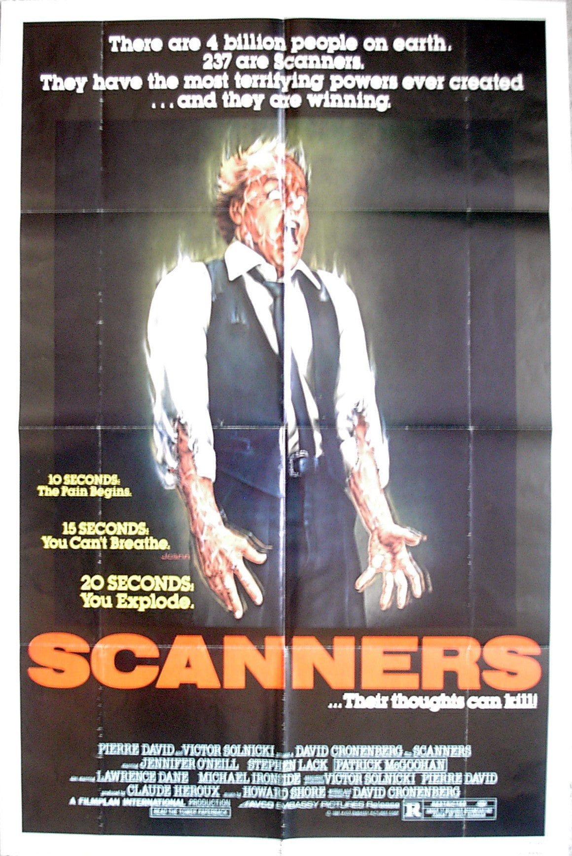 SCANNERS - US one-sheet poster