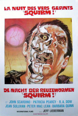 SQUIRM - Belgian poster