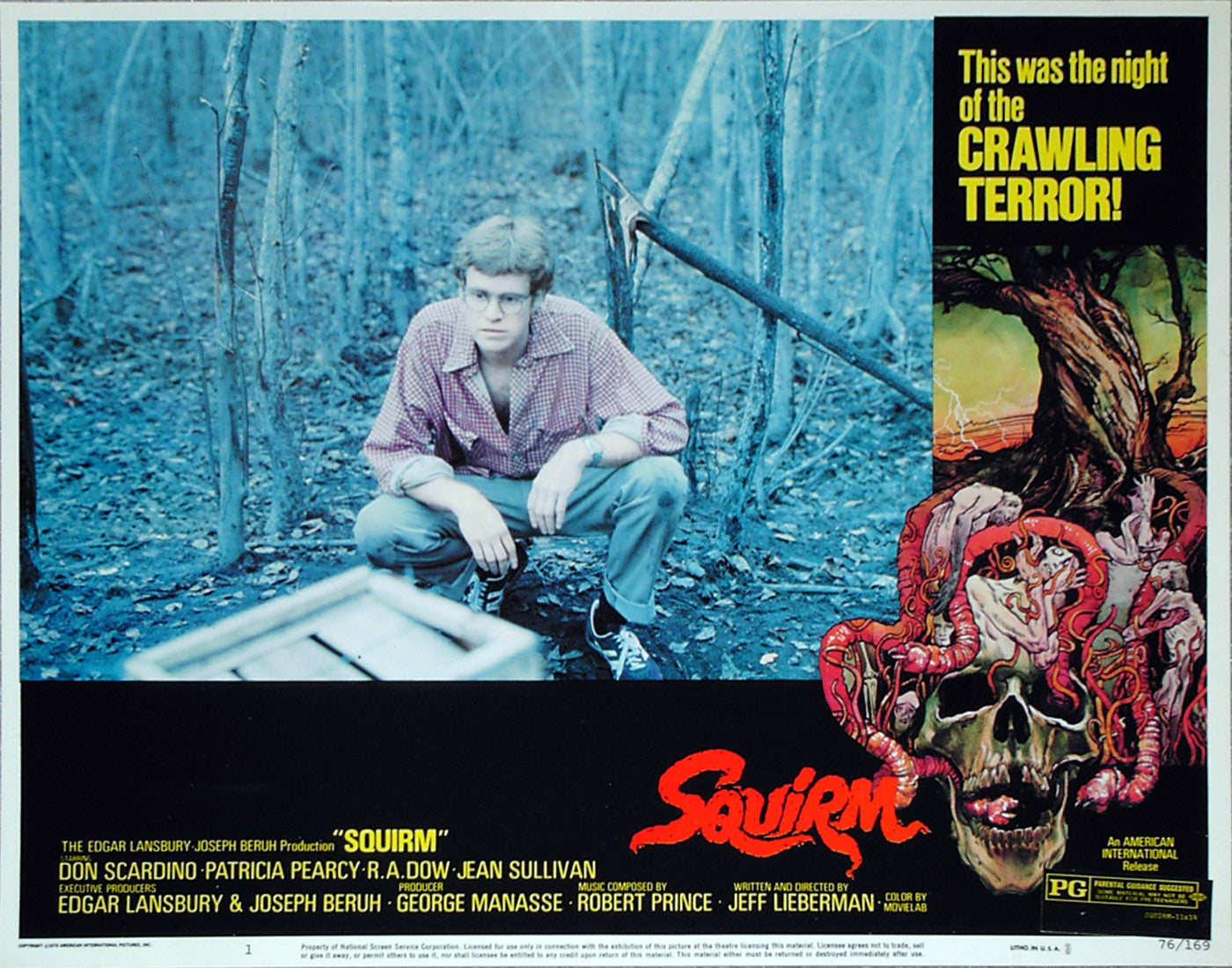 SQUIRM - US lobby card v1