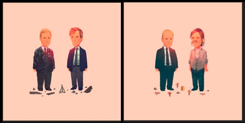 TRUE DETECTIVE (set) by Olly Moss