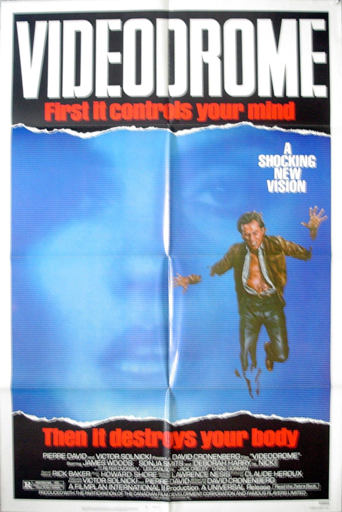 VIDEODROME - US one-sheet poster