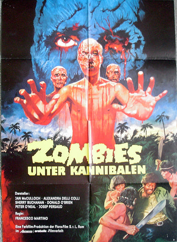ZOMBIE HOLOCAUST - German poster v1