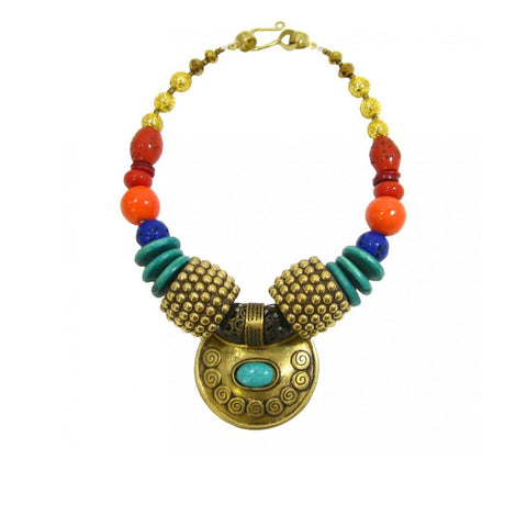 The Golden Fold handmade African statement rope necklace