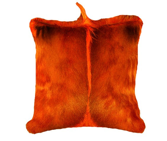 Luxury decorative throw pillow in springbok fur