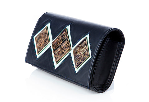 The Reese navy blue clutch purse by Rock & Herr