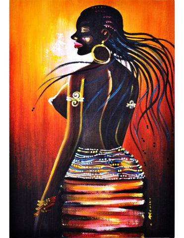Omoge - oil painting on canvas