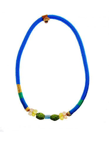 The Blue Single Ndebele Necklace