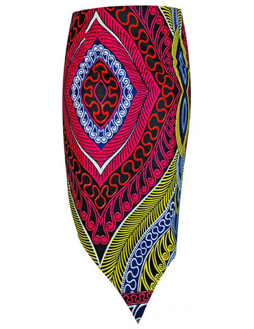 African print asymmetrical skirt for women
