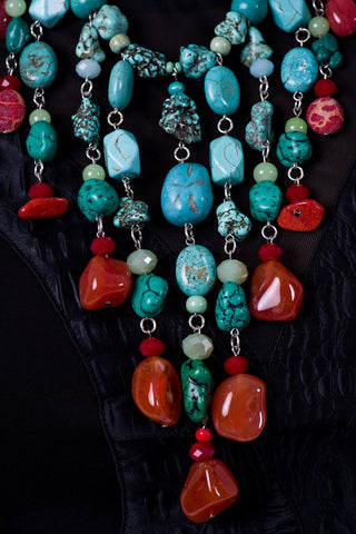 Dame Istanbul Turquoise Bib Necklace