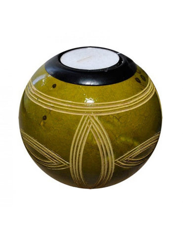 Green monkeyball tealight holder