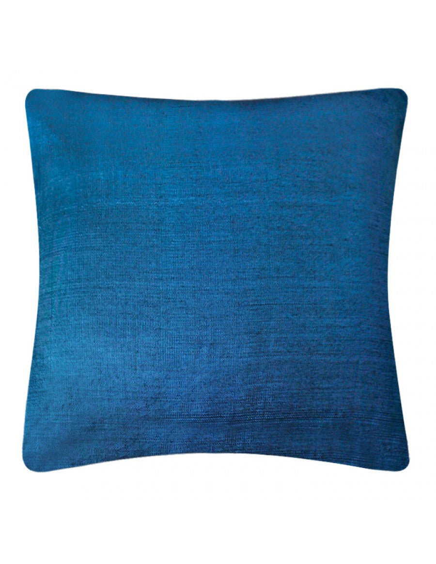 Blue-yellow handwoven cushion cover, 45 x 45 cm