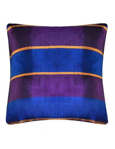 Purple-blue handwoven cushion cover, 45 x 45 cm
