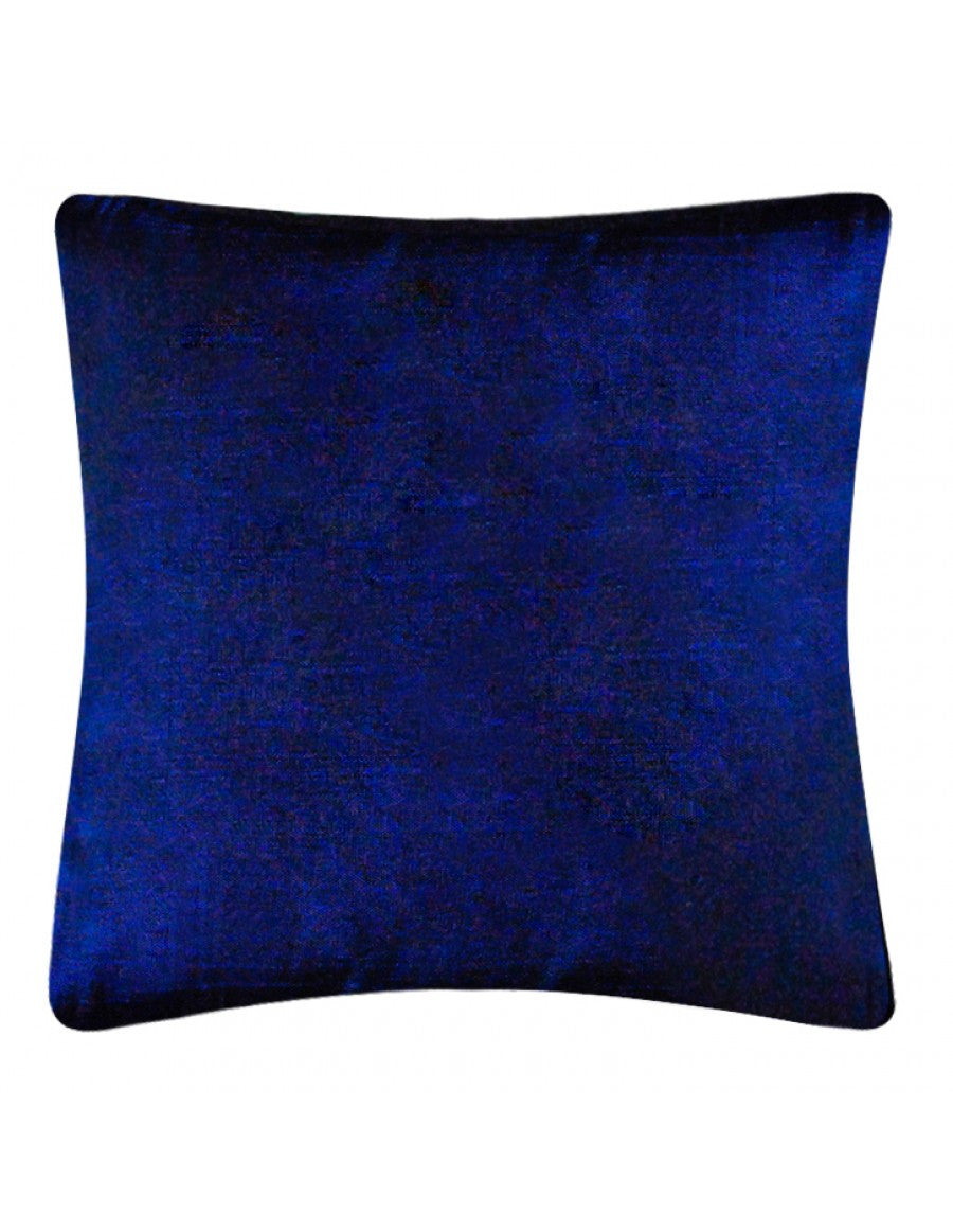 Blue handwoven cushion cover, 45 x 45 cm
