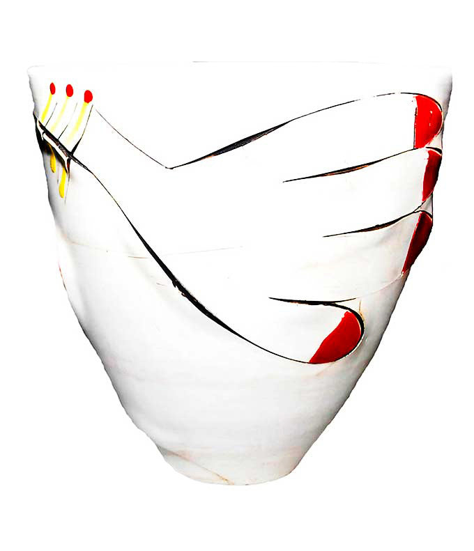 Africasso conical ceramic vase by Imiso