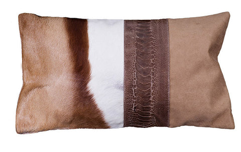 Natural Springbok decorative throw pillow