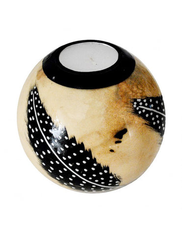 Beige monkeyball tealight holder