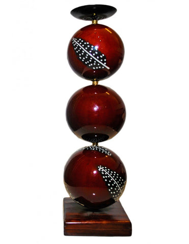 Burgundy monkeyball candle holder