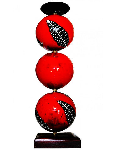 Red monkeyball candle holder