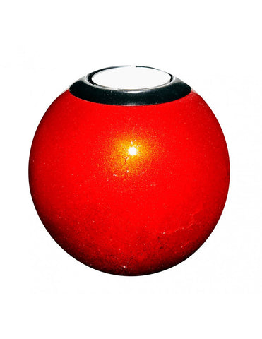 Red monkeyball tealight holder