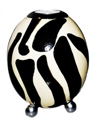 Ostrich egg tealight holder