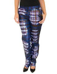 Tie-dye damask cotton pants