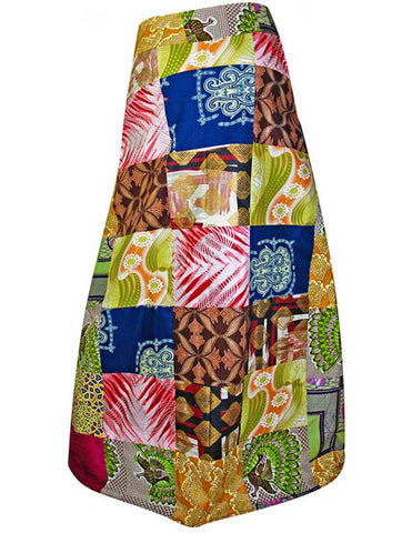 Gorgeous Patchwork African print maxi skirt