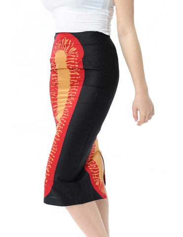 Curve-conscious pencil skirt