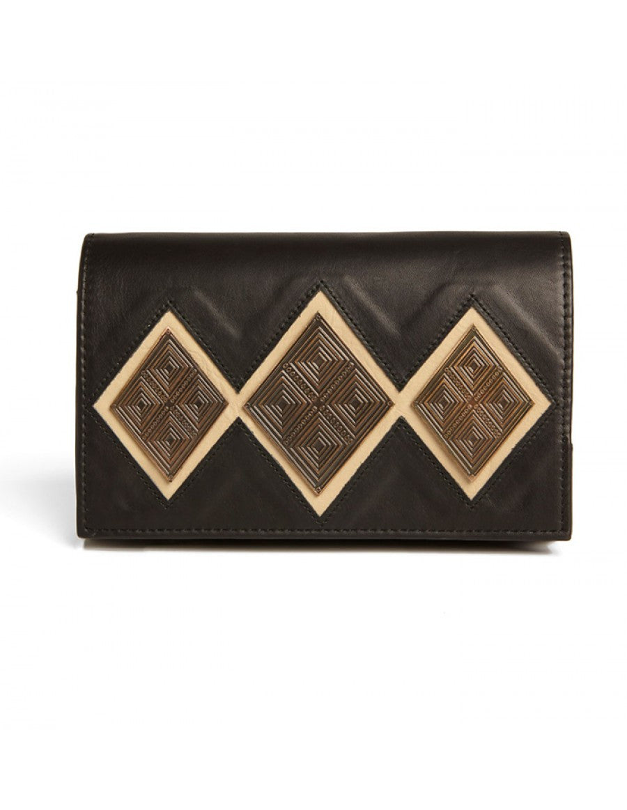 The Reese black clutch purse by Rock & Herr