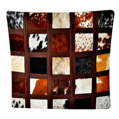 Small square Nguni cushion cover