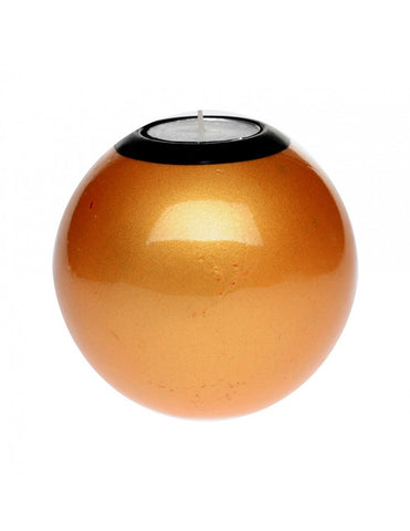 Gold monkeyball tealight holder