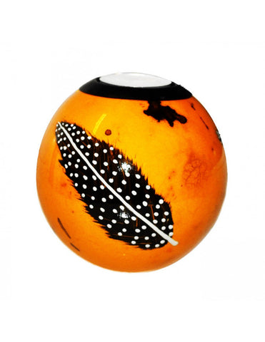 Orange monkeyball tealight holder