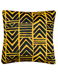 Black-yellow Woodin African Print fabric cushion cover