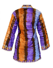 Tie-dye kaftan dress