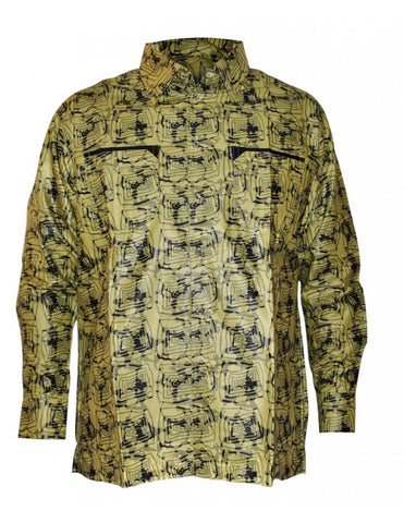 Genuine Ghanaian Woodin military print shirt