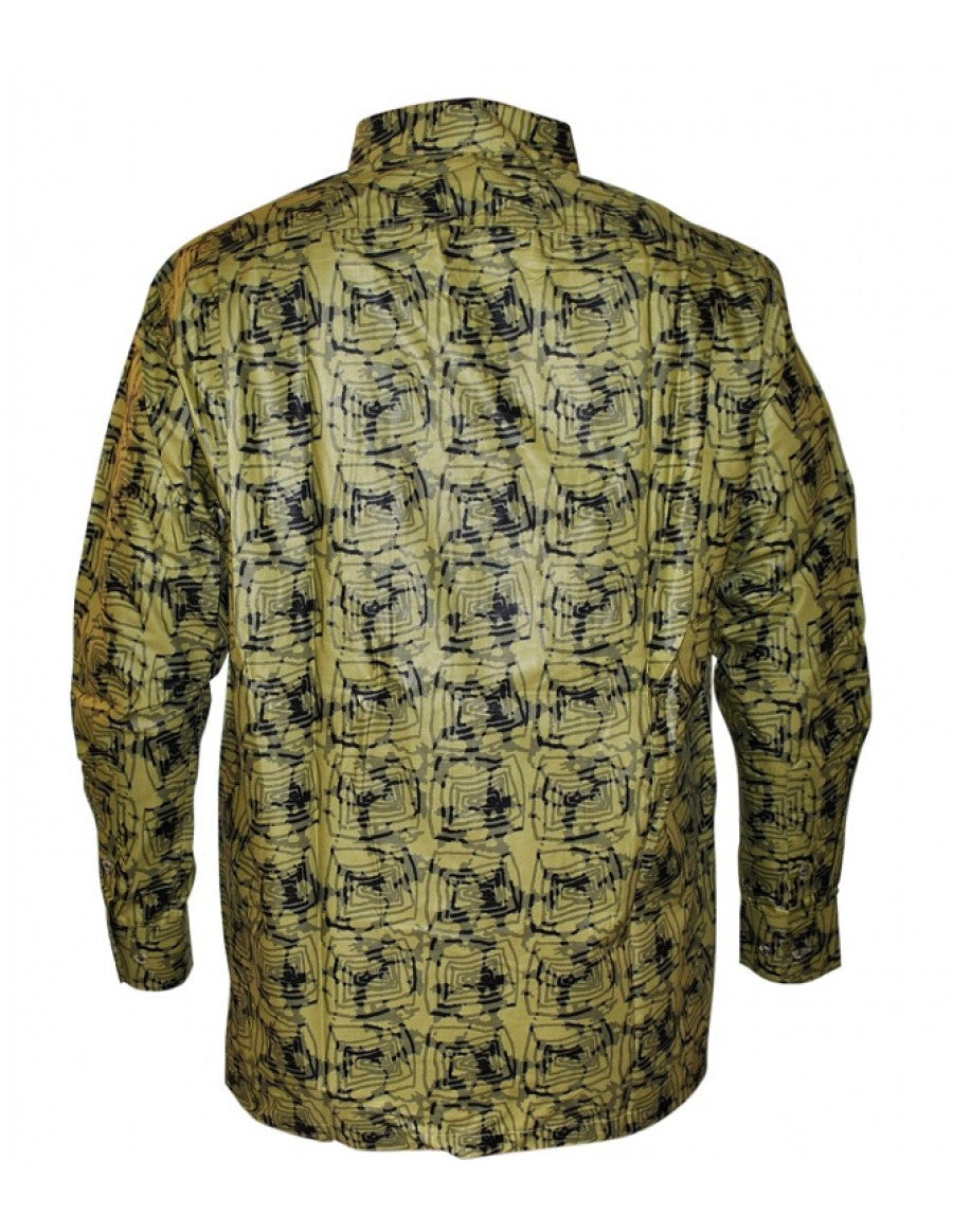 Genuine Ghanaian Woodin print shirt - green