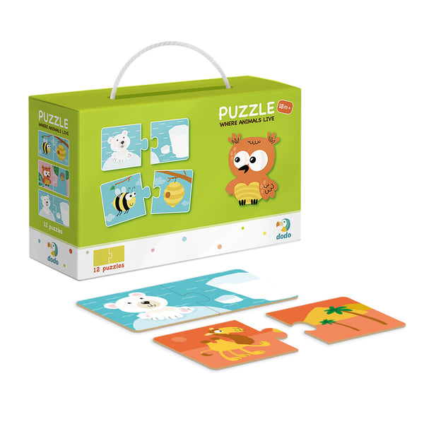 Dodo Puzzle Duo Where Animals Live